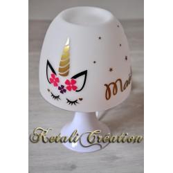 Lampe Licorne Fleur