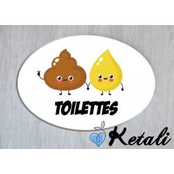 Plaque de porte - Toilettes...