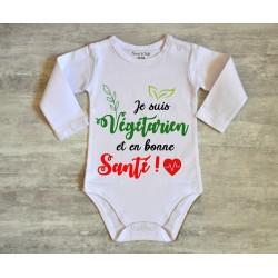 Body bébé végétarien