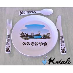 Set repas Pandas au lac